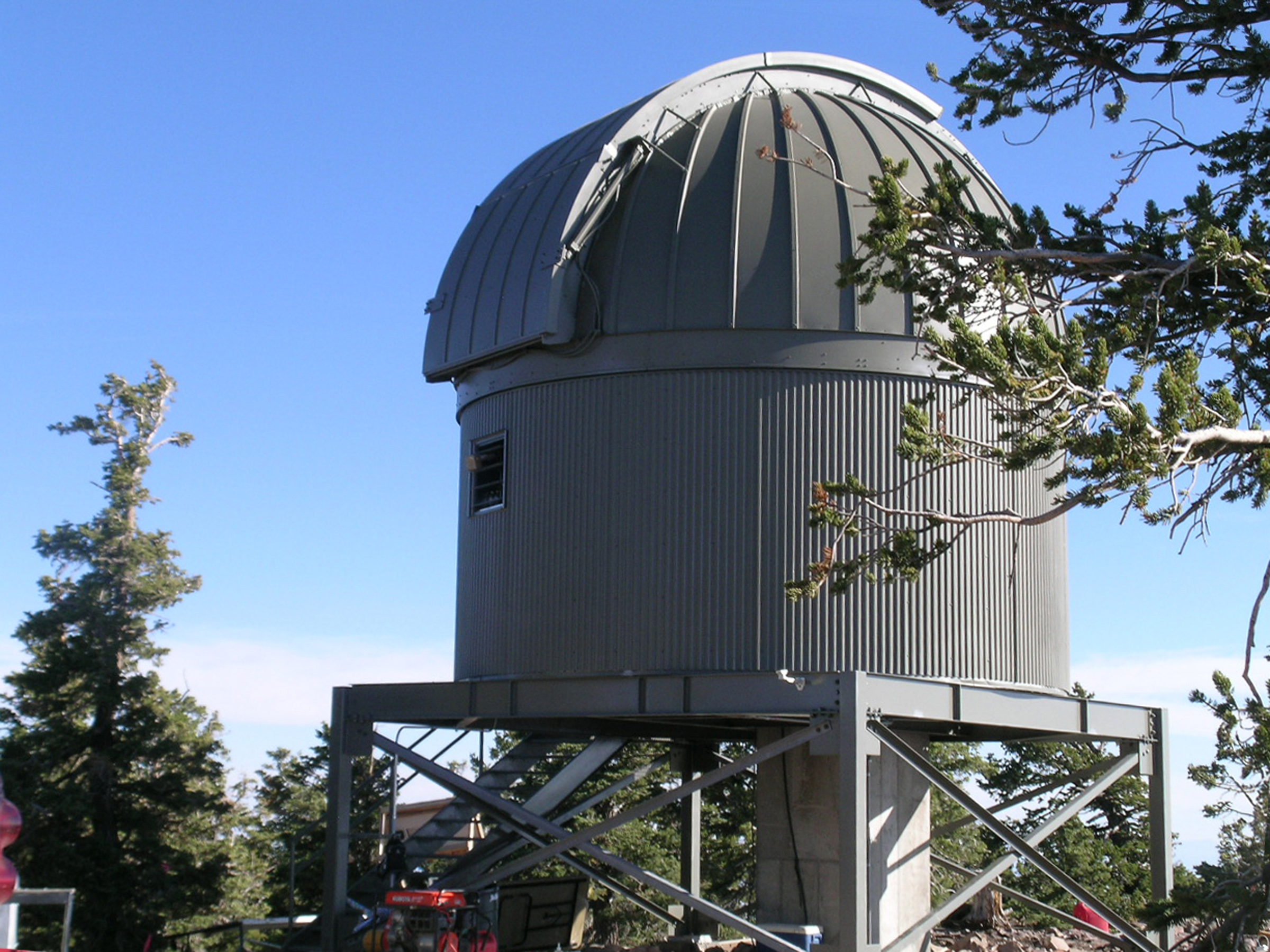 """Located at an elevation of about 9,600 feet on Frisco Peak in southern Utah, the Willard L. Eccles Observatory's dome houses a 32-inch reflecting telescope. The University of Utah observatory recently made its first observations, known as """"first light."""""""